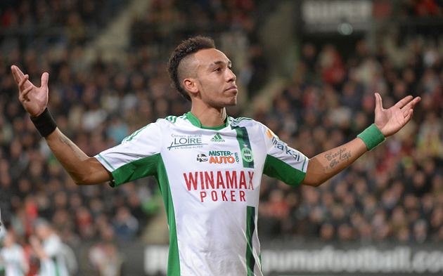 Aubameyang with St. Etienne