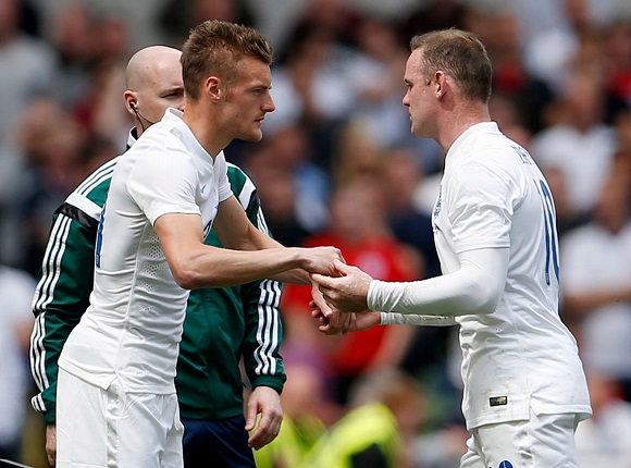 Vardy and Rooney with England