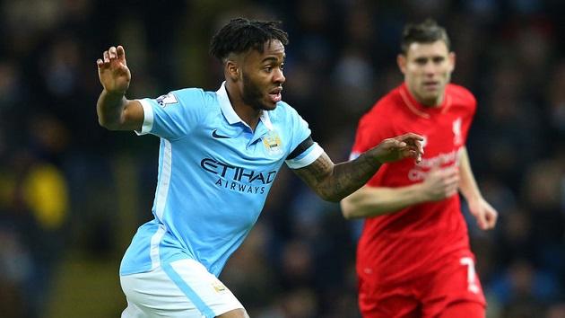 Man City midfielder Raheem Sterling