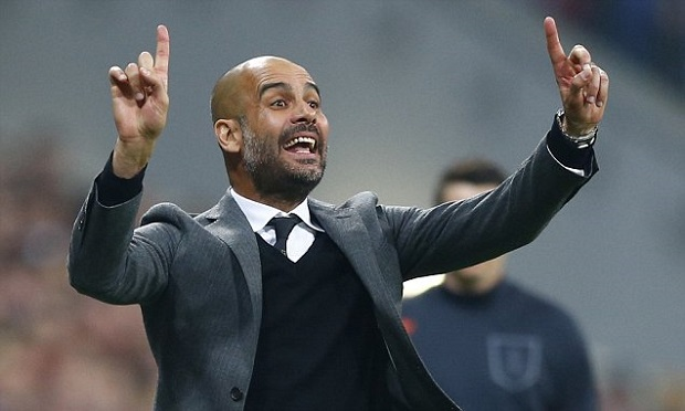 Bayern manager Pep Guardiola