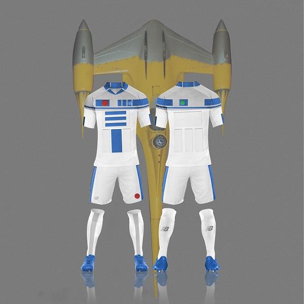R2D2 Star Wars soccer kit