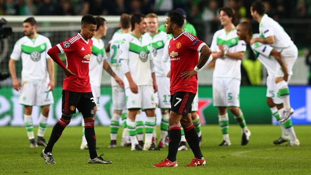 Man United knocked out of UCL by Wolfsburg