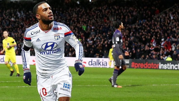 Lyon forward Lacazette