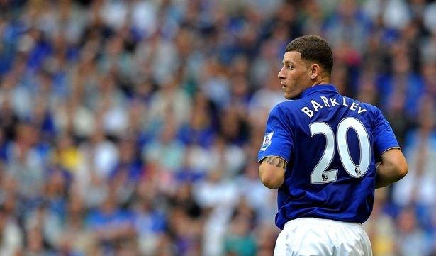 Everton midfielder Barkley