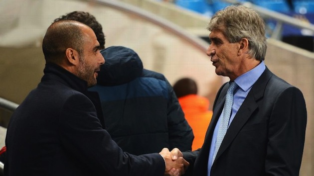 Pep Guardiola and Manuel Pelligrini