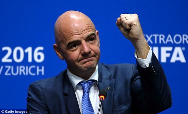 Infantino elected FIFA president