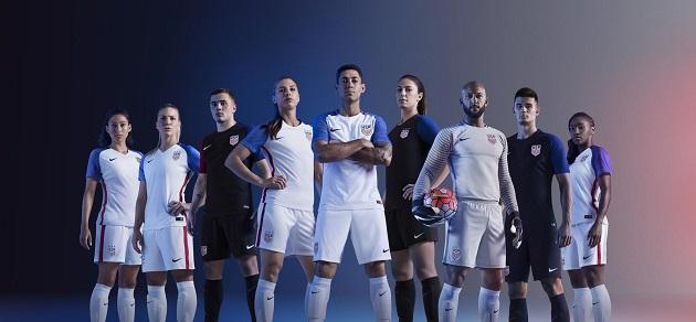 Nike USA Home and Away Jerseys for 2016