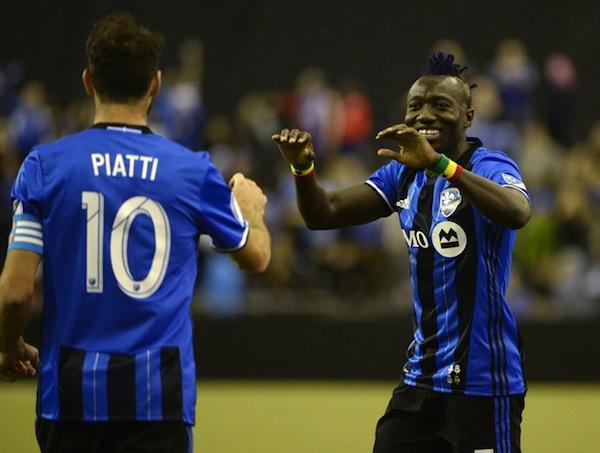 Montreal Impact's Piatti celebrates