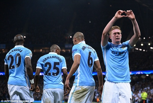City midfielder De Bruyne