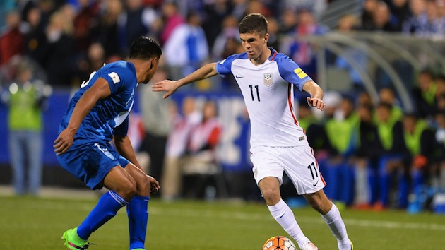 USA youngster Christian Pulisic