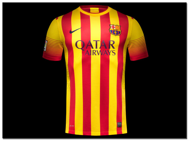 san francisco 7ee82 6786b Revealed: Nike Launch 2013-14 Barcelona Home and Away Jerseys...(Images) -  The Center Circle - A SoccerPro Soccer Fan Blog