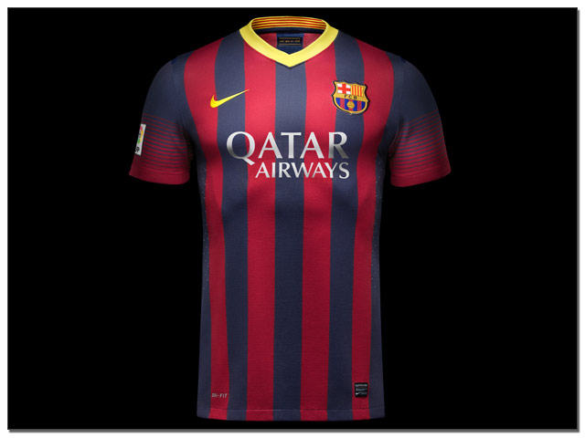 73216c766 Revealed  Nike Launch 2013-14 Barcelona Home and Away Jerseys…(Images)