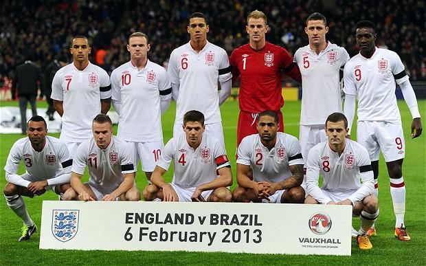 England v. Brasil Match 2013