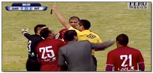 Peruvian Primera Division Manager Fouls Player…Is Sent Off…(Video)