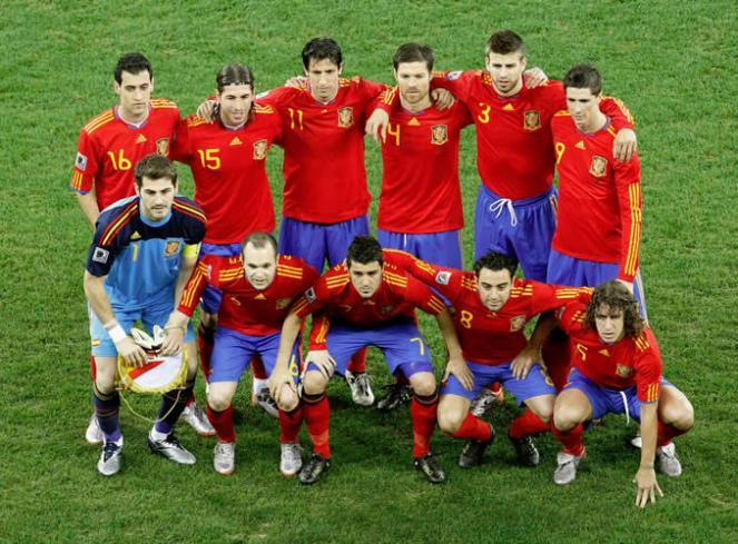 Spanish Football World Cup team_photos