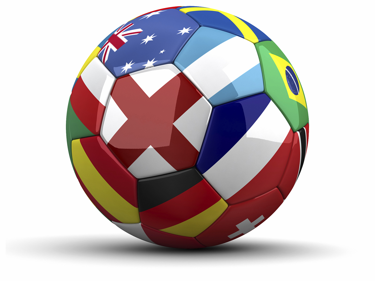 Soccer Ball World Logo
