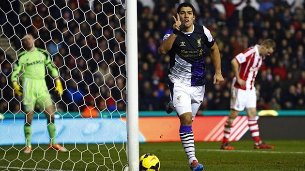 Suarez scores vs. Stoke