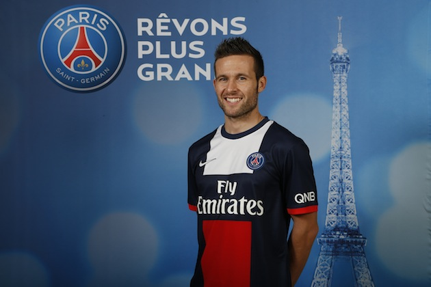 Cabaye introduced to PSG