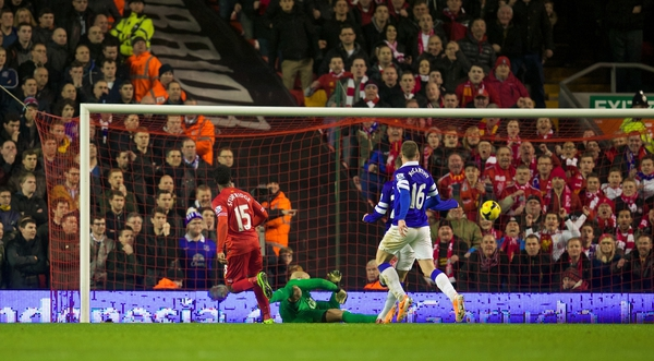 Sturridge scores vs. Everton