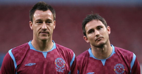 Terry and Lampard at West Ham