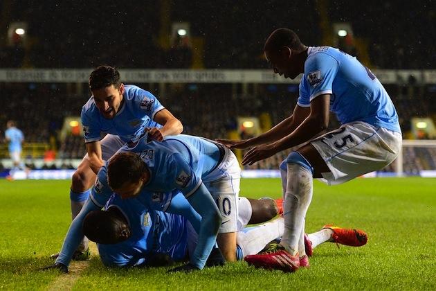 City score on Tottenham