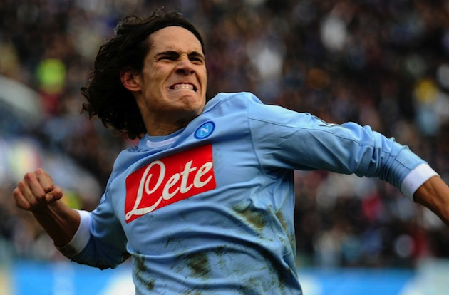 Edinson Cavani on Napoli