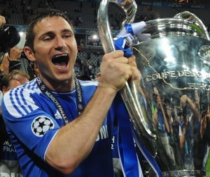 Lampard with Trophy