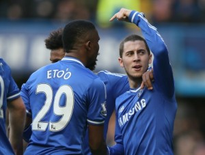 Eto'o and Hazard for Chelsea