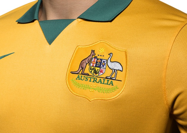 Australia home jersey crest