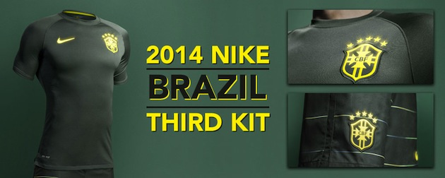Nike Goes Dark With the Brazil Third Kit