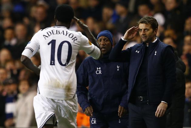 Tottenham's Adebayor