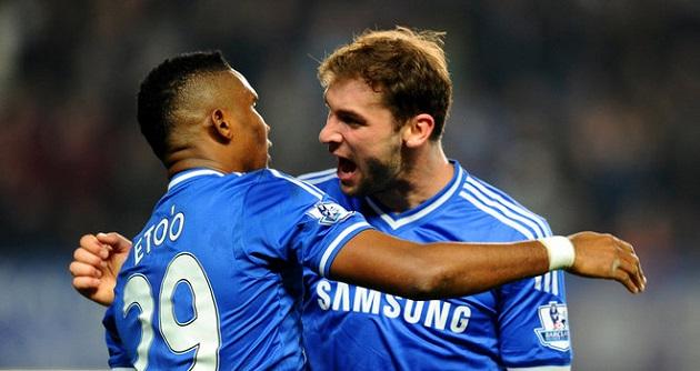 Chelsea scores v. Tottenham