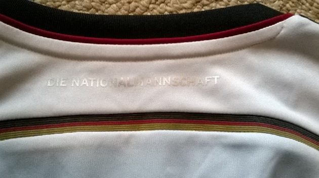Germany home jersey back