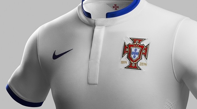 Portugal Will Take Their White with Blue Away Kit to Brazil