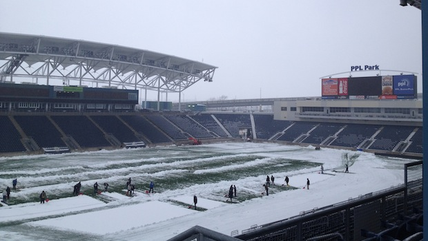 College Cup in snow