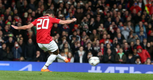 RVP taking a penalty