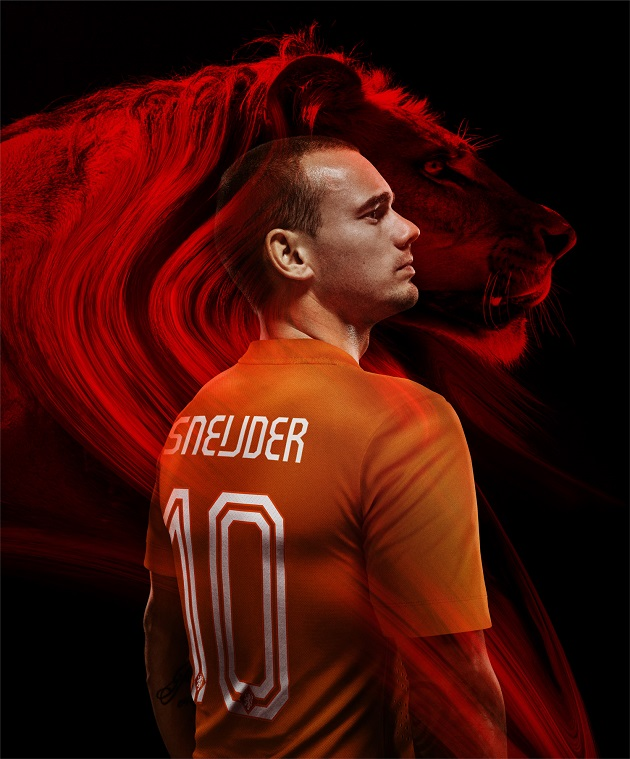 Sneijder in Holland jersey