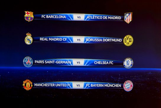Champions League quarterfinal draw