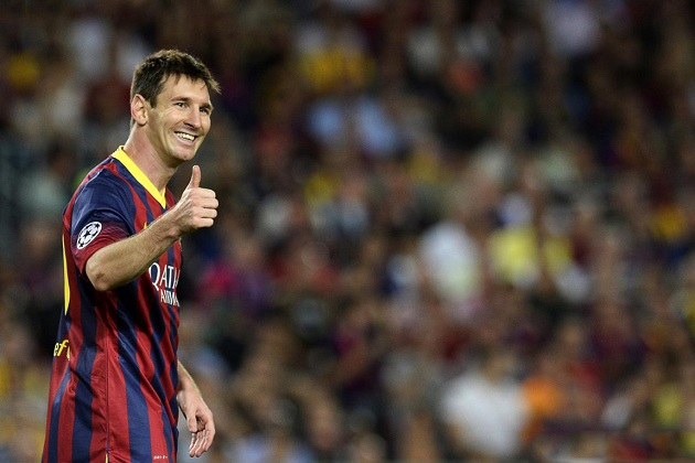Thumbs-up Messi
