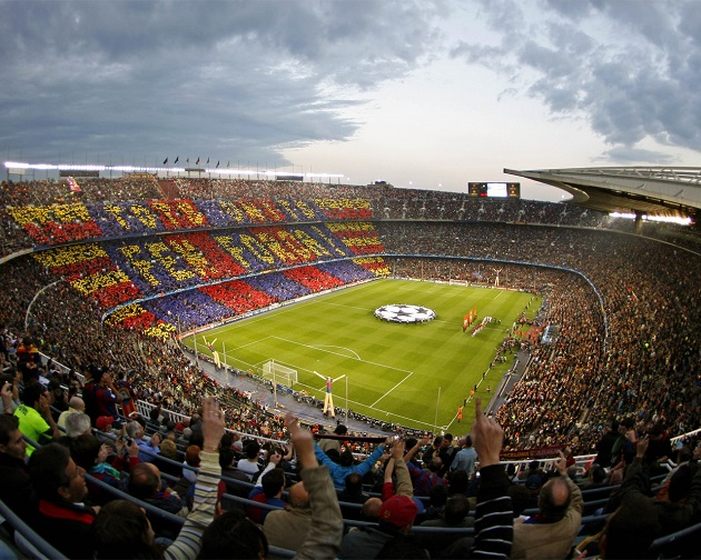 Camp Nou at Barcelona