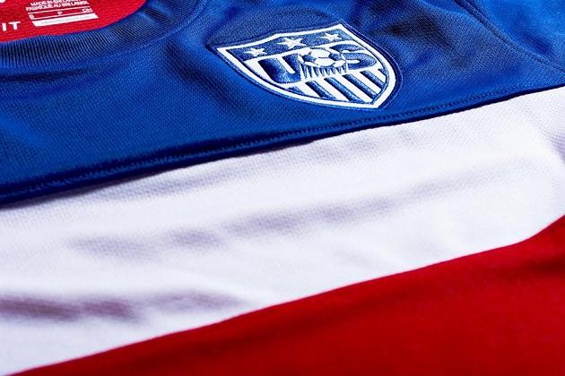 USA away jersey closeup