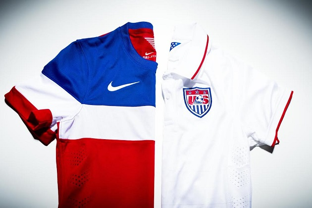 USA home and away jerseys