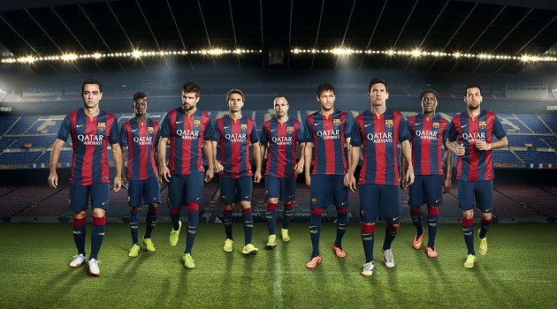 Nike Shows Off 2014-15 Barcelona Home Jersey
