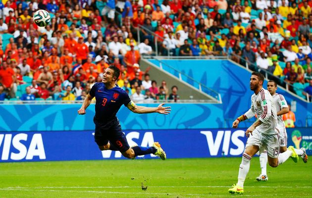 RVP in World Cup vs. Spain