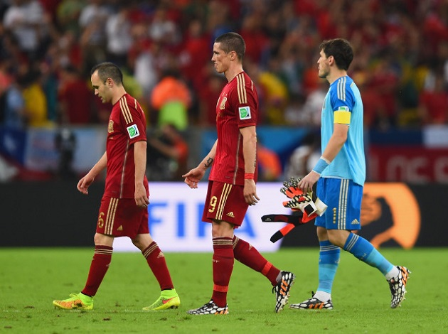 Spain loses in World Cup 2014