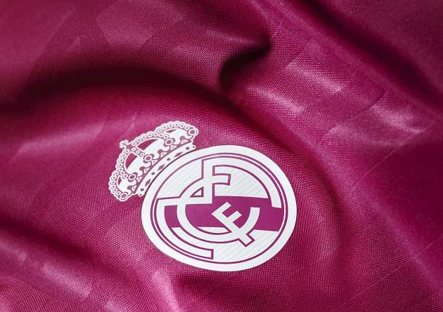Real Madrid away crest. No matter what your opinion is on pink soccer  jerseys ... bf7a94b63