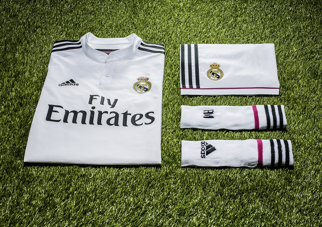 Pink Reigns On Real Madrid 2014-15 Home and Away Kits - The Center ... 48202e4bb