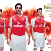 Puma Debuts 2014-15 Arsenal Home and Away Jerseys