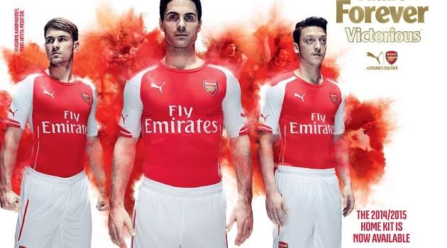 Puma Debuts 2014-15 Arsenal Home and Away Jerseys