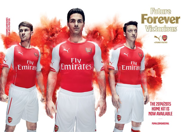 Puma Debuts 2014-15 Arsenal Home and Away Jerseys - The ...